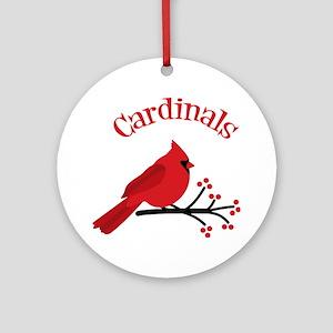 Cardinals Ornament (Round)
