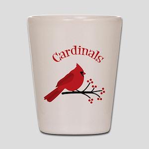 Cardinals Shot Glass