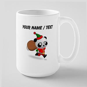 Custom Panda Santa Mugs