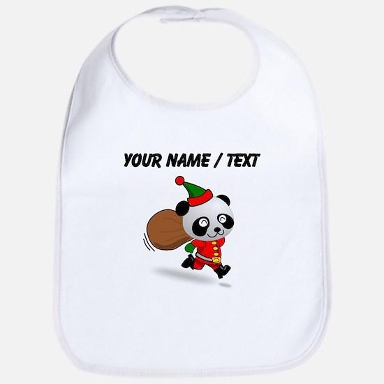 Custom Panda Santa Bib