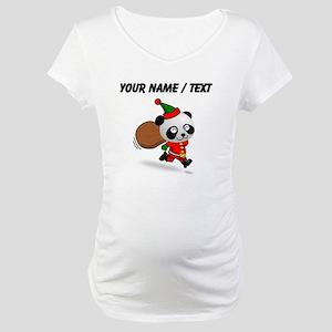 Custom Panda Santa Maternity T-Shirt