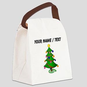 Custom Christmas Tree Canvas Lunch Bag