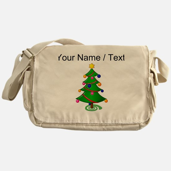 Custom Christmas Tree Messenger Bag