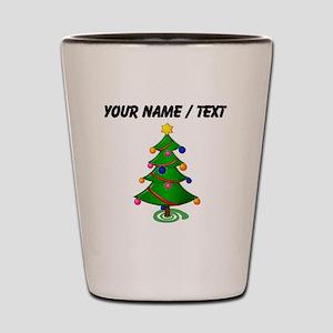 Custom Christmas Tree Shot Glass
