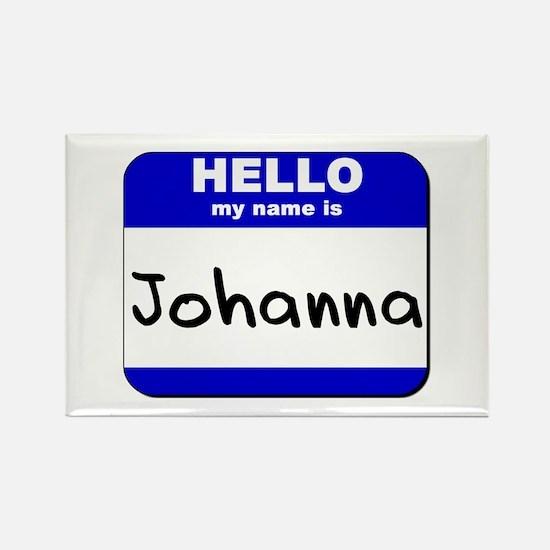 hello my name is johanna Rectangle Magnet