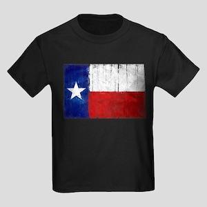 Texas Flag Distressed Kids Dark T-Shirt