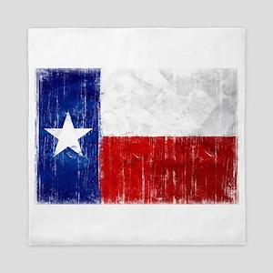 Texas Flag Distressed Queen Duvet