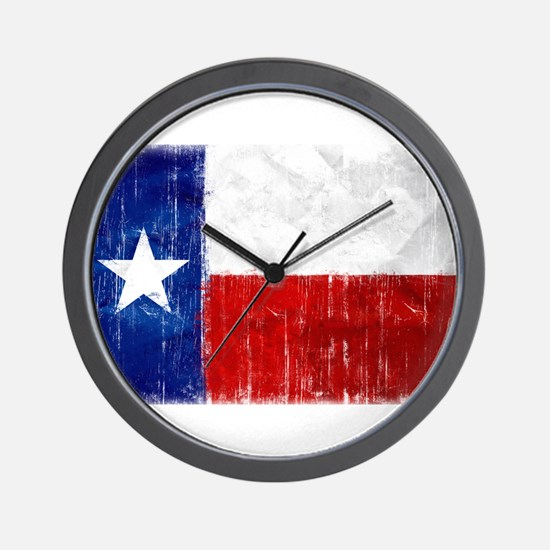 Texas Flag Distressed Wall Clock