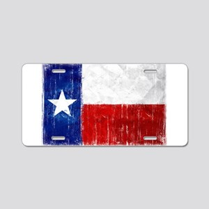 Texas Flag Distressed Aluminum License Plate