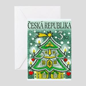 1995 Czech Republic Christmas Tree Postage Stamp G