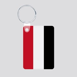 Yemen Flag Aluminum Photo Keychain
