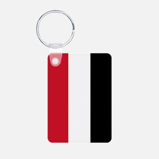 Yemen Flag Aluminum Photo Keychain