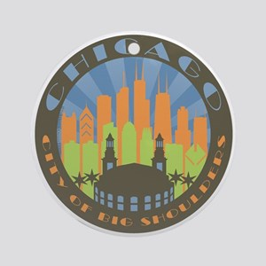 Chicago round beachy Ornament (Round)