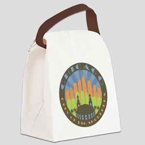 Chicago round beachy Canvas Lunch Bag