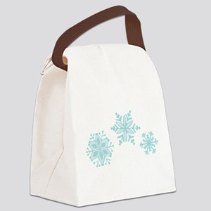 Snowflakes Canvas Lunch Bag