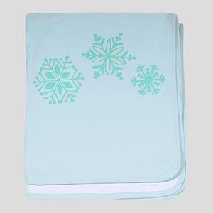 Snowflakes baby blanket