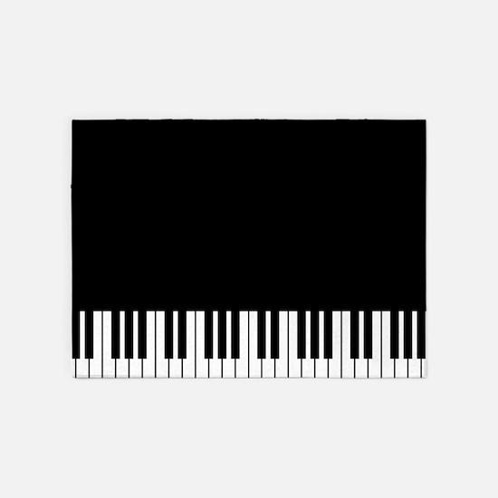 Piano Key 5'X7'area Rug