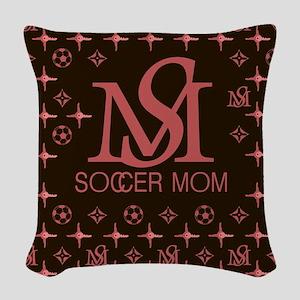 LouisV Soccer Mom Woven Throw Pillow