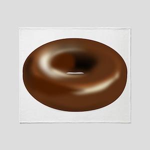 Chocolate Donut Throw Blanket