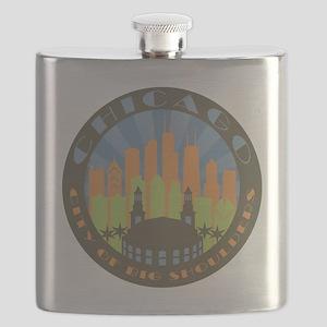 Chicago round beachy Flask