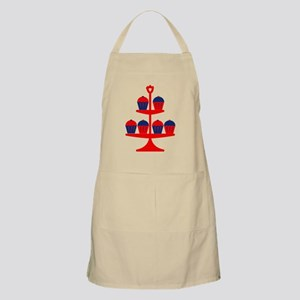 Red Cupcake Stand Apron