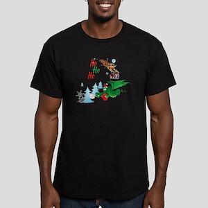 Cute Dragon Christmas  Men's Fitted T-Shirt (dark)