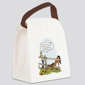 The Grass is Greener Canvas Lunch Bag