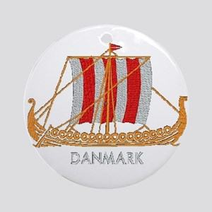 Danmark boat 2 Ornament (Round)