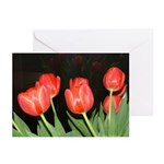 Red Tulips Greeting Cards (Pk of 10)