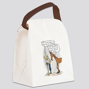 Ready, Aim....Poop Canvas Lunch Bag