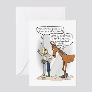 Ready, Aim....Poop Greeting Card