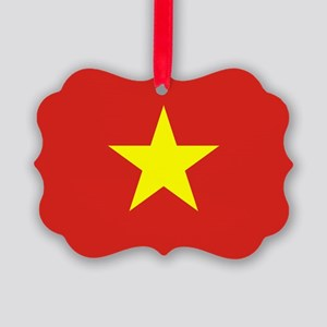 Vietnam Flag Picture Ornament