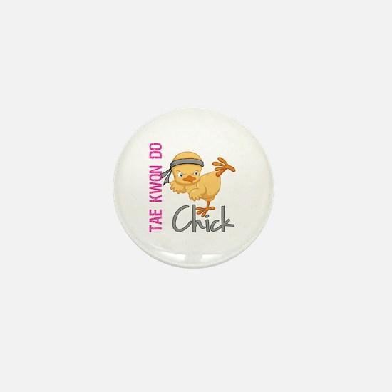 Tae Kwon Do Chick 2 Mini Button