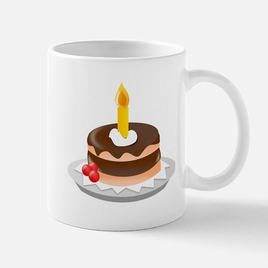 Cake With Candle Mugs