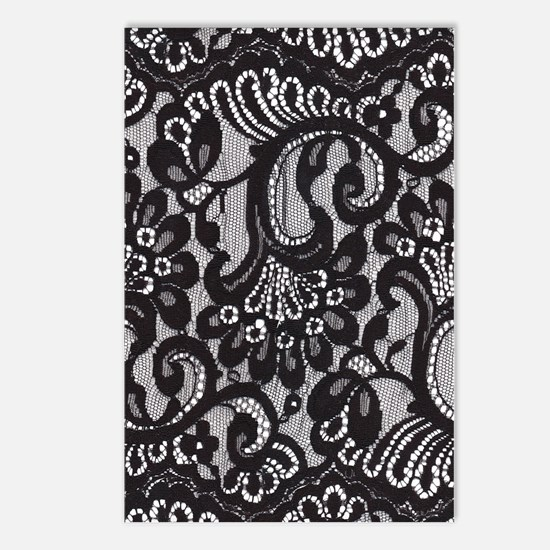 Black Lace Postcards (Package of 8)