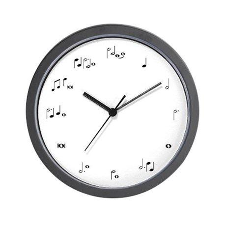 Music notes musician time Wall Clock
