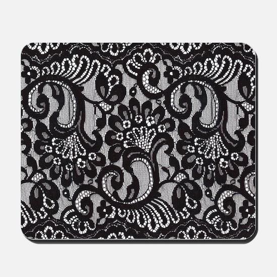 Black Lace Mousepad