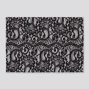 Black Lace 5'x7'Area Rug