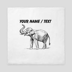 Custom Elephant Sketch Queen Duvet