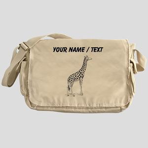 Custom Giraffe Sketch Messenger Bag