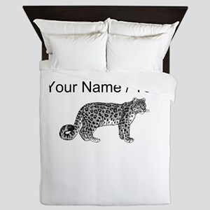 Custom Bobcat Sketch Queen Duvet