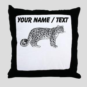 Custom Bobcat Sketch Throw Pillow