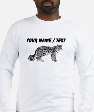 Custom Bobcat Sketch Long Sleeve T-Shirt