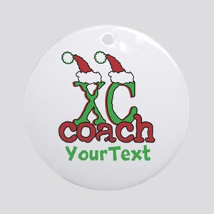 Customize XC Coach Holiday Ornament (Round)