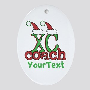 Customize XC Coach Holiday Ornament (Oval)