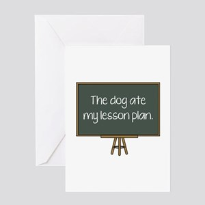 The Dog Ate My Lesson Plan Greeting Card