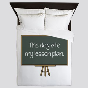 The Dog Ate My Lesson Plan Queen Duvet