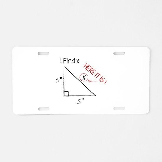 Find X Aluminum License Plate