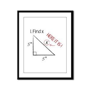 Find X Framed Panel Print