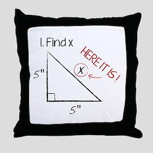 Find X Throw Pillow